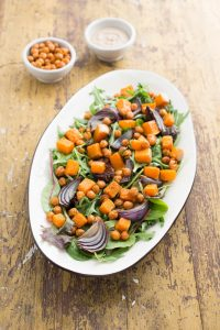 Roasted chickpea & butternut squash salad 9