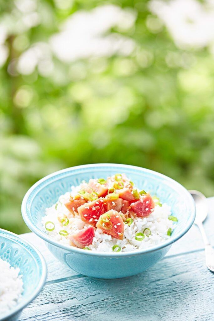 A vegan version of Poke bowl 1