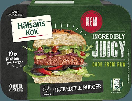 "Hälsans kök lanserar ""köttiga"" Incredible Burger 3"
